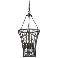 ELK Lighting Santiago 4 Light Pendant in Rust 14048/4