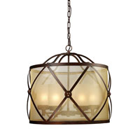 ELK 14052/6 Cumberland 6 Light 26 inch Classic Bronze Chandelier Ceiling Light