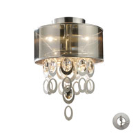 Parisienne 2 Light 12 inch Silver Leaf Semi-Flush Mount Ceiling Light in Recessed Adapter Kit