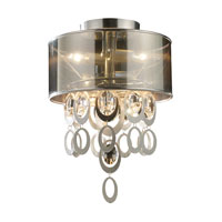 ELK Lighting Parisienne 2 Light Semi Flush in Silver Leaf 14061/2