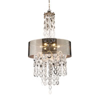 Parisienne 6 Light 26 inch Silver Leaf Pendant Ceiling Light