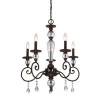 ELK Lighting Trier 5 Light Chandelier in Aged Bronze 14072/5