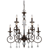 ELK Lighting Trier 9 Light Chandelier in Aged Bronze 14073/6+3