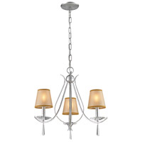 ELK 14081/3 Clarendon 3 Light 16 inch Silver Chandelier Ceiling Light