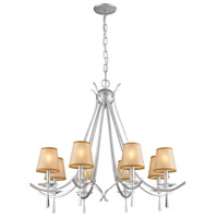 Clarendon 8 Light 33 inch Silver Chandelier Ceiling Light