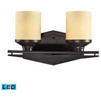 ELK Lighting Cordova 2 Light Bath Bar in Oiled Bronze 14092/2-LED