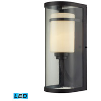 ELK Lighting Caldwell 1 Light Outdoor Wall Sconce in Oiled Bronze 14102/1-LED