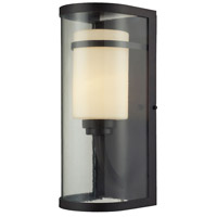 ELK Lighting Caldwell 1 Light Outdoor Wall Sconce in Oiled Bronze 14102/1