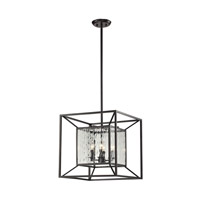 ELK 14122/4 Cubix 4 Light 18 inch Oiled Bronze Chandelier Ceiling Light