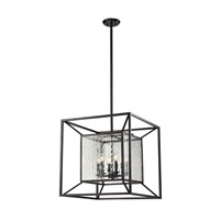 ELK Lighting Cubix 6 Light Chandelier in Oiled Bronze 14123/6