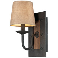 Early American 1 Light 6 inch Vintage Rust Wall Sconce Wall Light