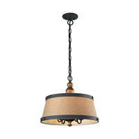 ELK 14131/4 Early American 4 Light 17 inch Vintage Rust Chandelier Ceiling Light photo thumbnail