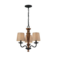 ELK Lighting HGTV HOME Early American 3 Light Chandelier in Vintage Rust 14132/3