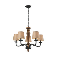 ELK Lighting HGTV HOME Early American 5 Light Chandelier in Vintage Rust 14133/5