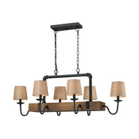 ELK Lighting HGTV HOME Early American 6 Light Billiard/Island in Vintage Rust 14134/6