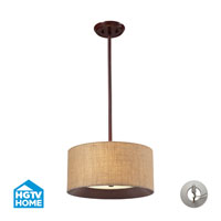 ELK Lighting HGTV HOME Nathan 3 Light Semi Flush in Dark Walnut with Recessed Conversion Kit 14140/3-LA