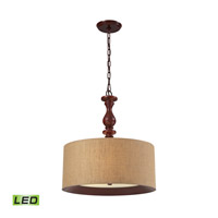 ELK 14141/3-LED Nathan LED 20 inch Dark Walnut Pendant Ceiling Light