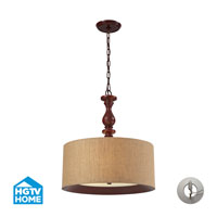 ELK Lighting HGTV HOME Nathan 3 Light Pendant in Dark Walnut 14141/3-LA