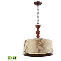 ELK 14151/3-LED Nathan LED 20 inch Dark Walnut Pendant Ceiling Light