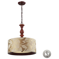 ELK Lighting Nathan 3 Light Pendant in Dark Walnut 14151/3-LA