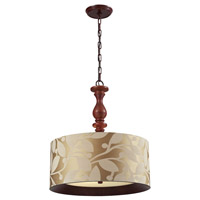 ELK 14151/3 Nathan 3 Light 20 inch Dark Walnut Pendant Ceiling Light