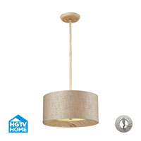 ELK Lighting HGTV HOME Nathan 3 Light Semi Flush in Washed Pine with Recessed Conversion Kit 14160/3-LA