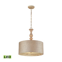 ELK Lighting Nathan 3 Light Pendant in Washed Pine 14161/3-LED