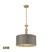 ELK Lighting Nathan 3 Light Pendant in Washed Pine 14171/3-LED