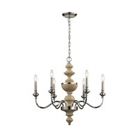 ELK Lighting Stratford 6 Light Chandelier in Polished Nickel 14182/6