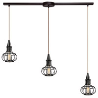 ELK Lighting Yardley 3 Light Chandelier in Oil Rubbed Bronze 14191/3L