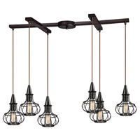 ELK Lighting Yardley 6 Light Chandelier in Oil Rubbed Bronze 14191/6