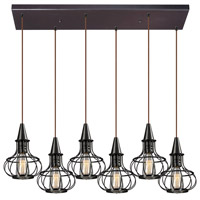 ELK Lighting Yardley 6 Light Chandelier in Oil Rubbed Bronze 14191/6RC