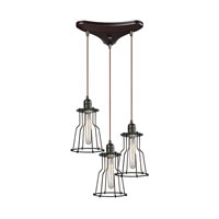 ELK Lighting Yardley 3 Light Chandelier in Oil Rubbed Bronze 14196/3