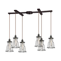 ELK Lighting Yardley 6 Light Chandelier in Oil Rubbed Bronze 14196/6