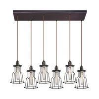 ELK Lighting Yardley 6 Light Chandelier in Oil Rubbed Bronze 14196/6RC