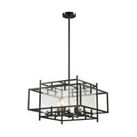 ELK Lighting Intersections 5 Light Pendant in Oil Rubbed Bronze 14203/5