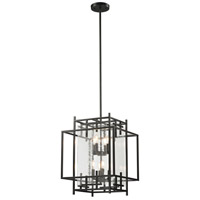 Intersections 8 Light 17 inch Oil Rubbed Bronze Pendant Ceiling Light
