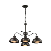 ELK Lighting Henninger 4 Light Chandelier in Oil Rubbed Bronze 14209/4