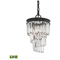elk 142161led palacial led 8 inch oil rubbed bronze pendant ceiling light
