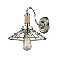 ELK Lighting Spun Wood 1 Light Wall Sconce in Polished Nickel 14220/1