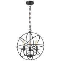Yardley 3 Light 16 inch Oil Rubbed Bronze Pendant Ceiling Light