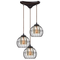 Yardley 3 Light 20 inch Oil Rubbed Bronze Pendant Ceiling Light