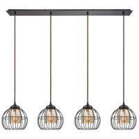 ELK 14245/4LP Yardley 4 Light 46 inch Oil Rubbed Bronze Linear Pendant Ceiling Light
