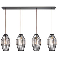 ELK 14248/4LP Yardley 4 Light 46 inch Oil Rubbed Bronze Linear Pendant Ceiling Light