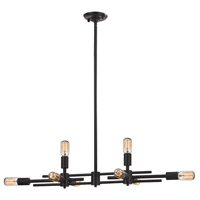 Parallax 8 Light 34 inch Oil Rubbed Bronze Island Ceiling Light