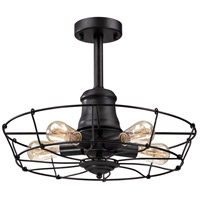 Glendora 5 Light 20 inch Wrought Iron Black Semi Flush Ceiling Light