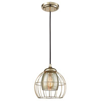 ELK 14265/1 Yardley 1 Light 8 inch Polished Gold Mini Pendant Ceiling Light