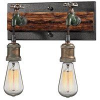 Jonas 2 Light 12 inch Multi-Tone Weathered Vanity Light Wall Light