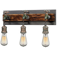 Jonas 3 Light 19 inch Multi-Tone Weathered Vanity Light Wall Light