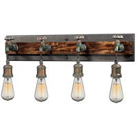 Jonas 4 Light 26 inch Multi-Tone Weathered Vanity Light Wall Light